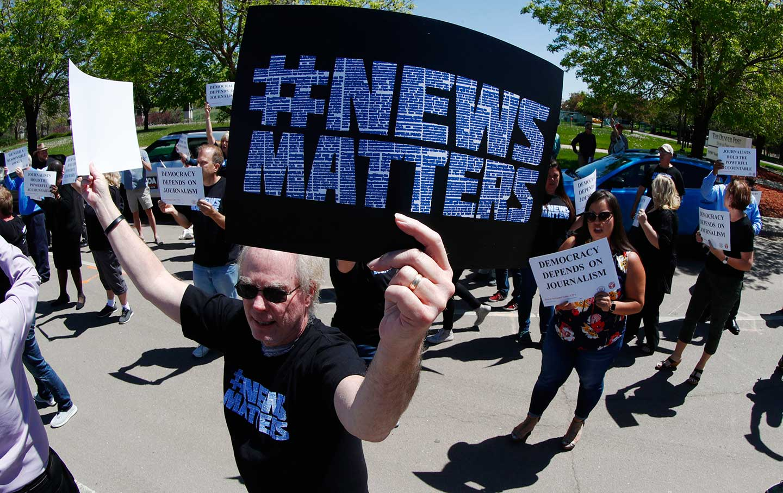 Denver Post protests