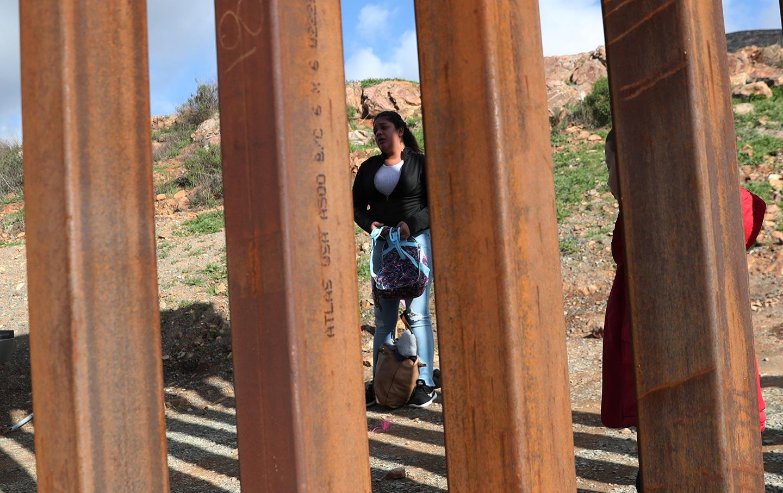 Honduran migrant at the border