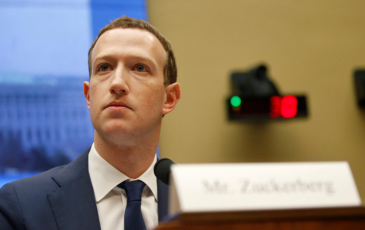 670a6f947bbf Facebook CEO Mark Zuckerberg testifies for a House Energy and Commerce  Committee hearing on Capitol Hill in Washington on April 11, 2018.