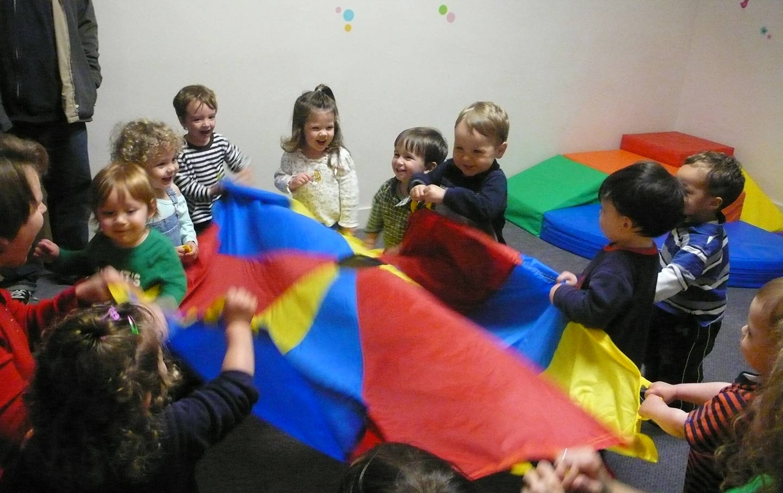Children at a daycare in California
