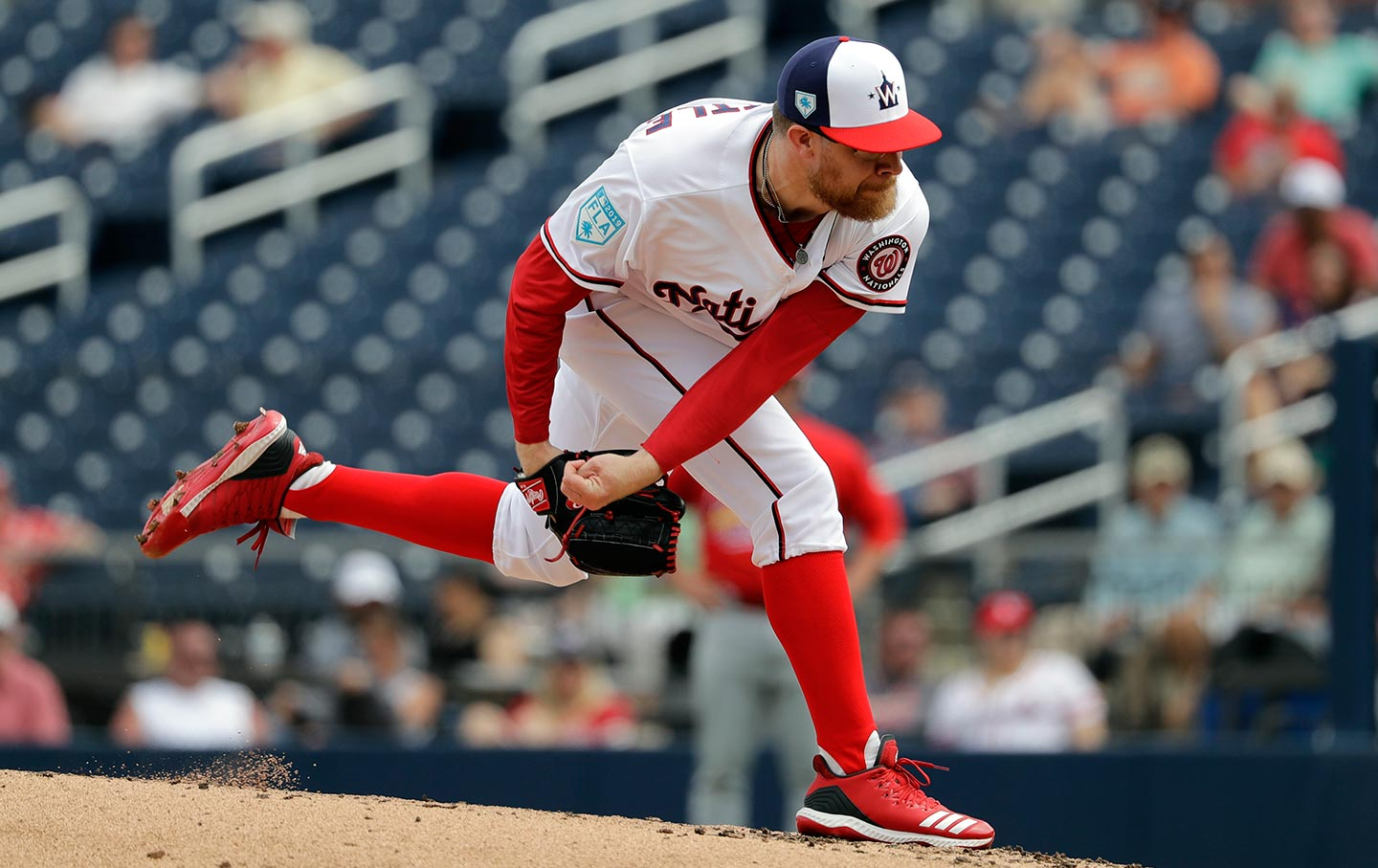 Washington Nationals pitcher Sean Doolittle in a baseball game in February.  (AP Photo   Jeff Roberson) 4d5582c4f37
