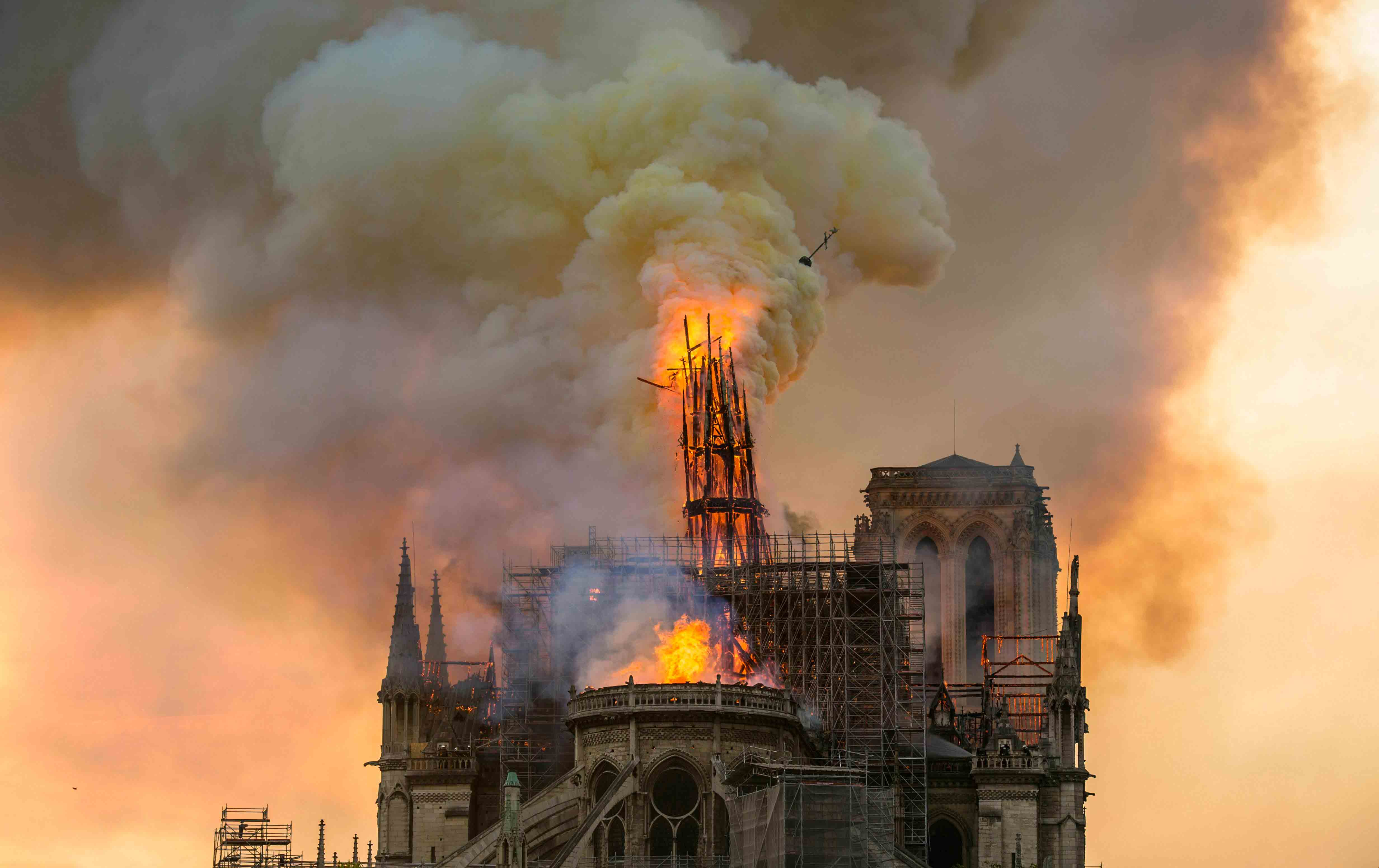 Cathedral of Notre Dame going up in flames