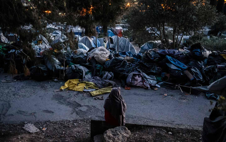 Samos, Greece refugee camp