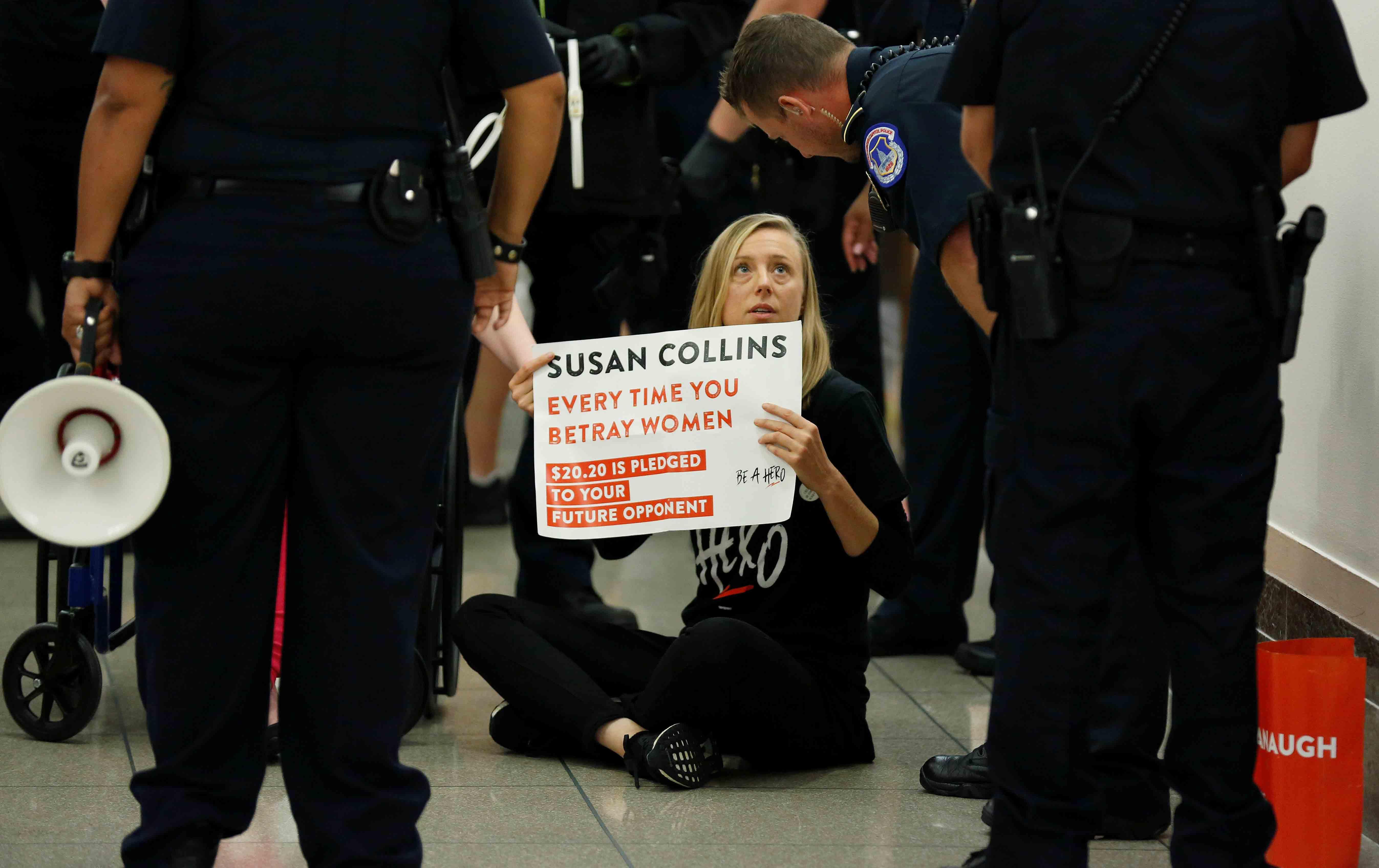 Protesting Susan Collins