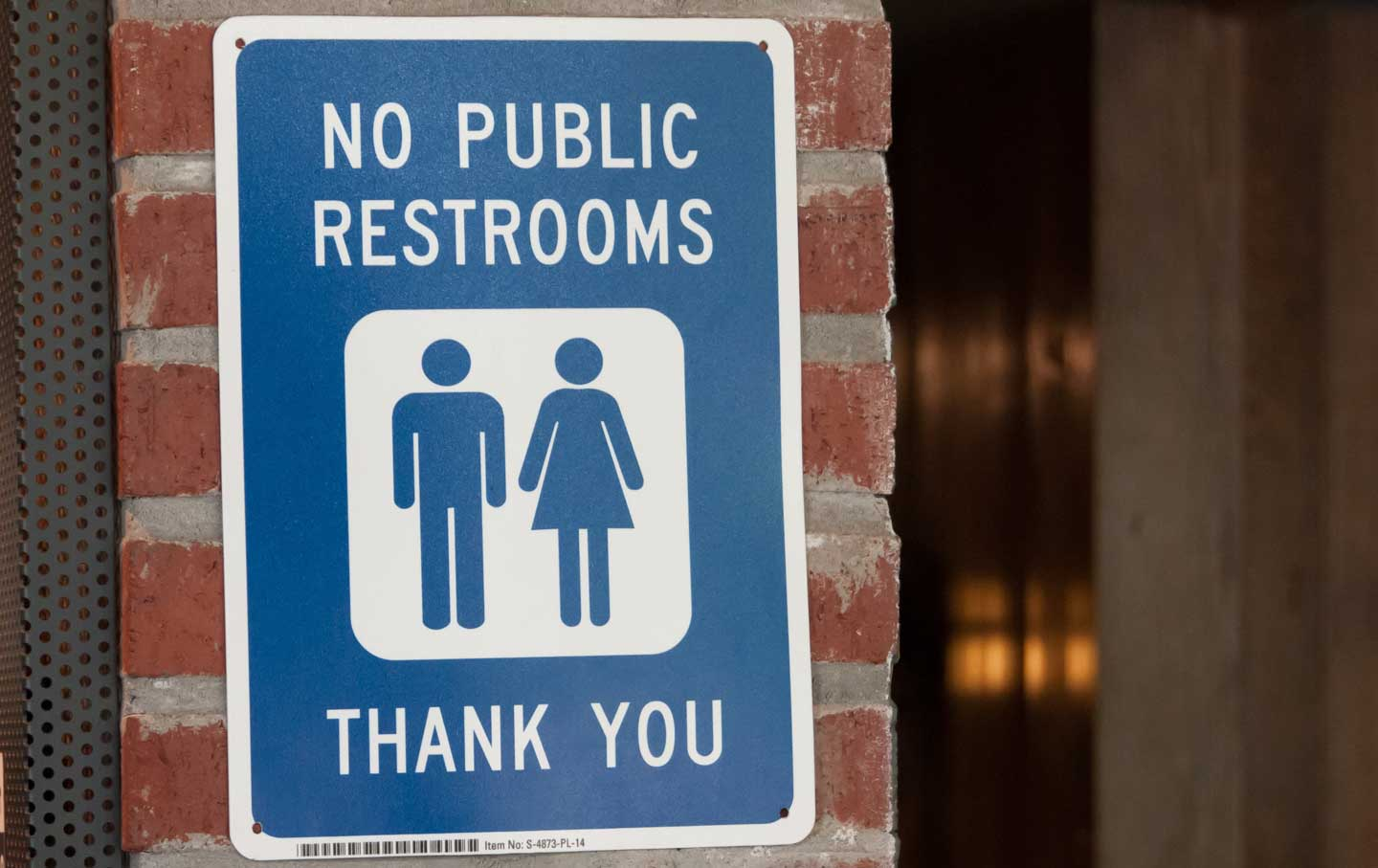 No Public Restrooms Sign