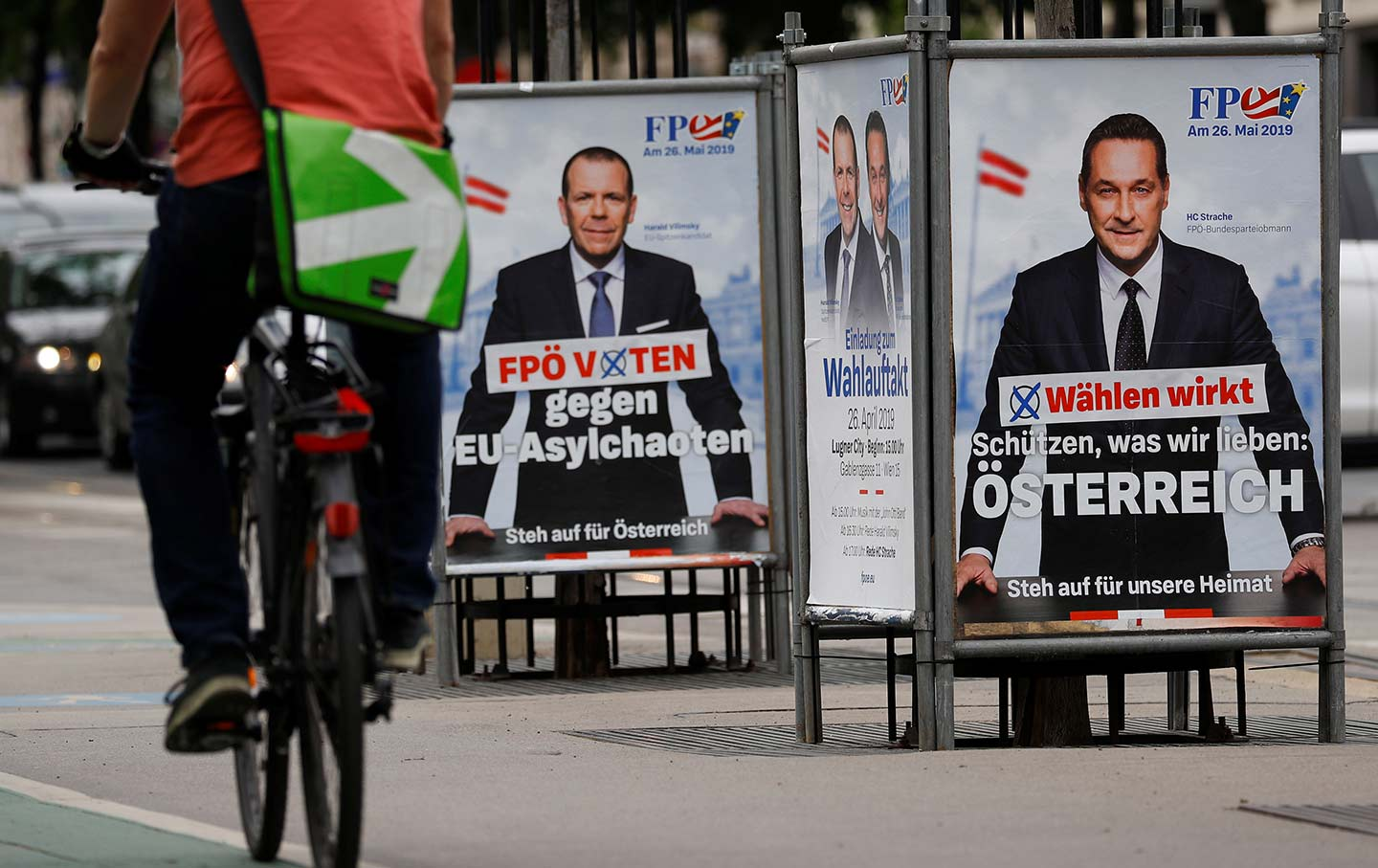 Austrian Freedom Party campaign posters