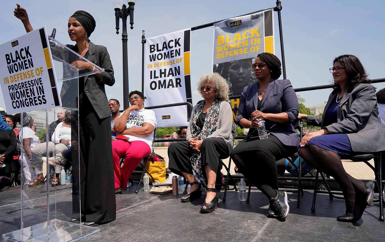 Ilhan Omar rally