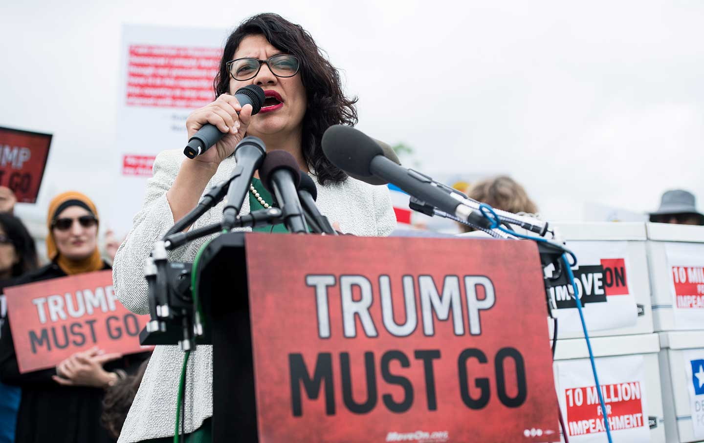 Rashida Tlaib calls for impeachment