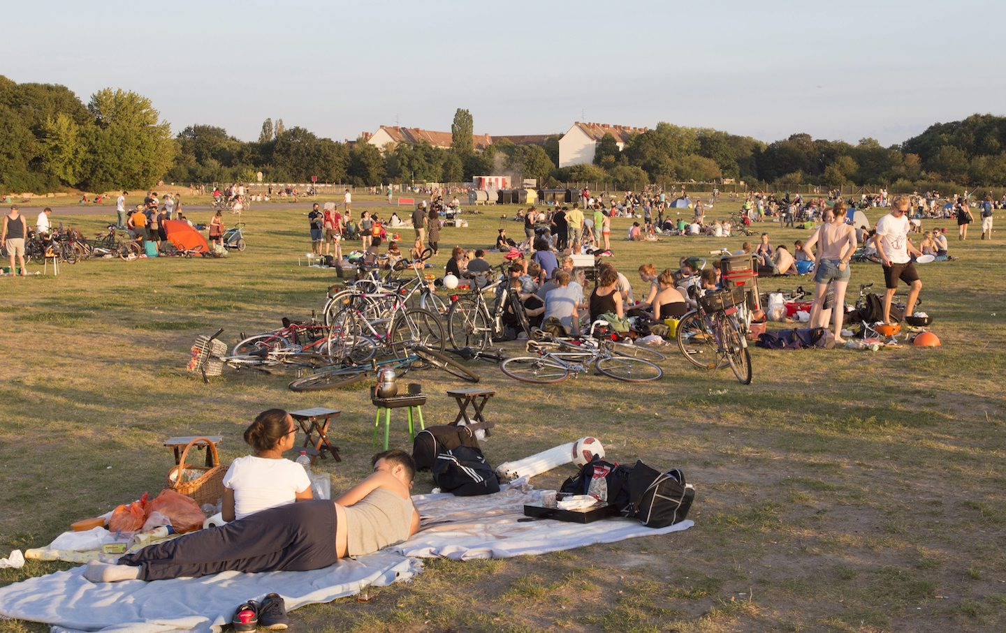 Picnickers at Berlin's Tempelhofer Feld, 2015.