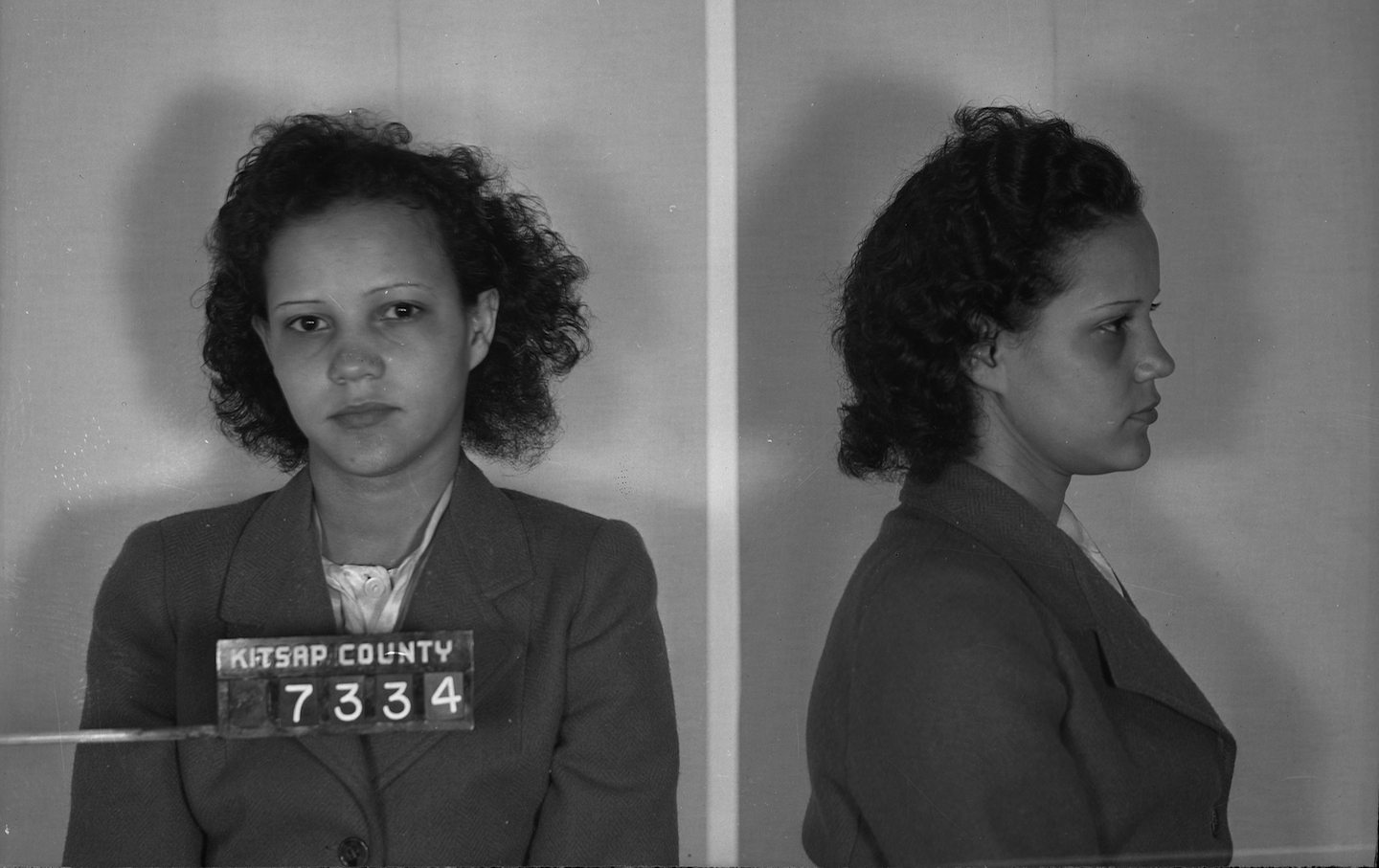 Taylor after being arrested for vagrancy in Washington State in 1944. (Washington State Archives, Puget Sound : Little Brown)