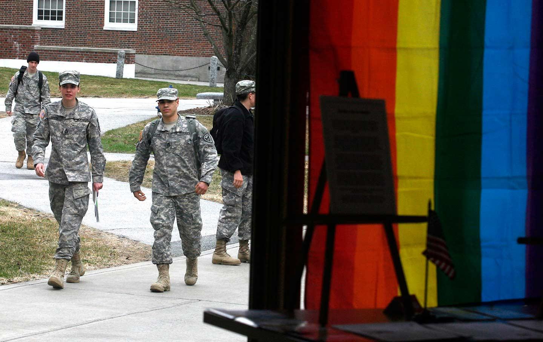 rainbow flag military