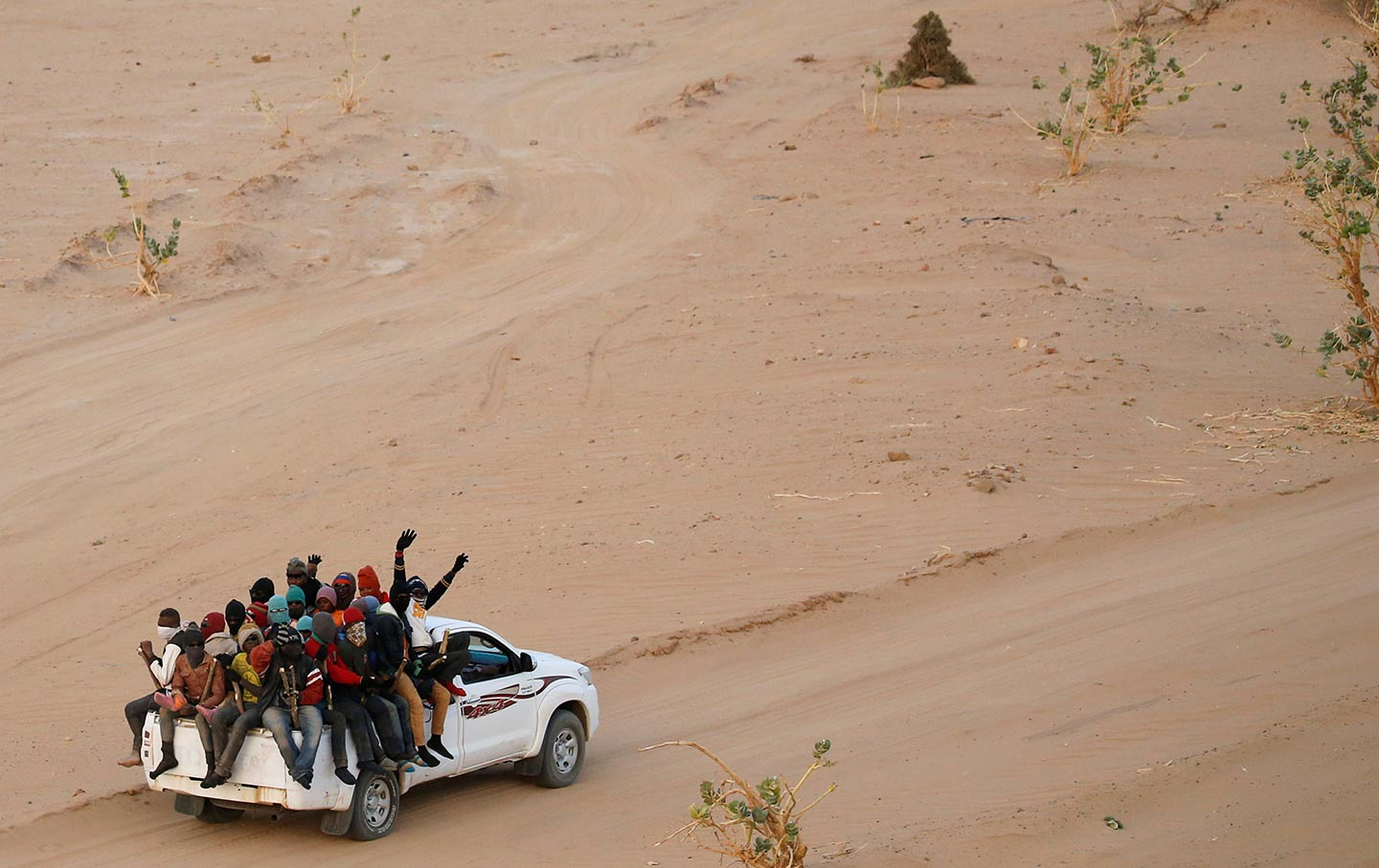 Migrants crossing through Agadez