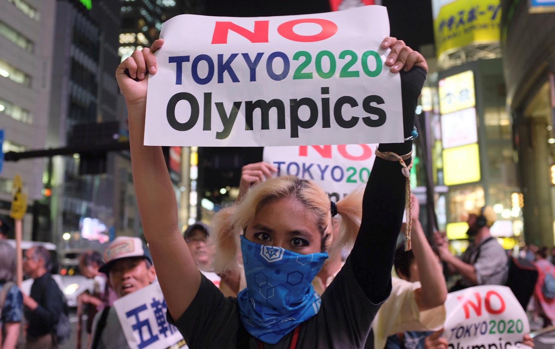 Tokyo Shinjuku Olympics Protest