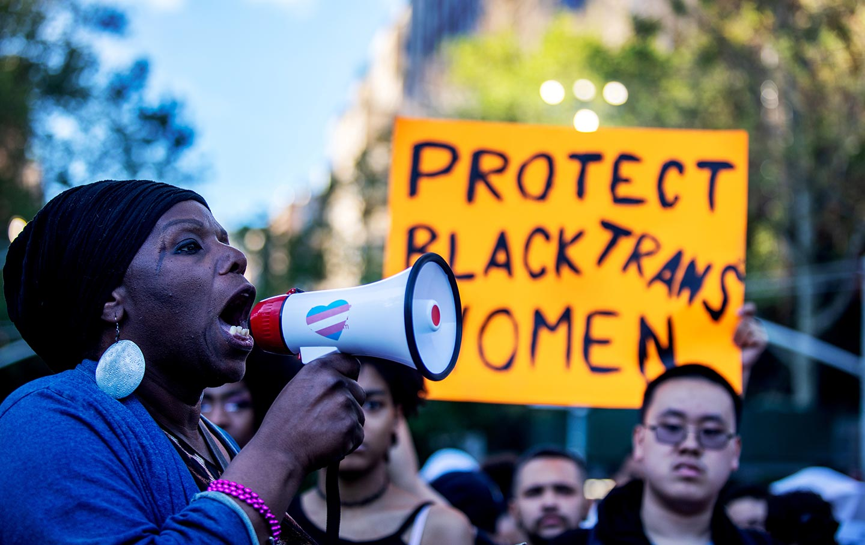 Trans women protest