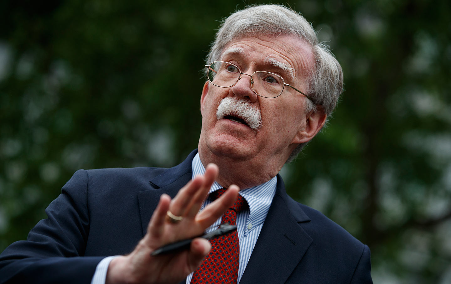Bolton left the White House in September 2019 in a public eruption of vitriol on both sides over the terms of his departure