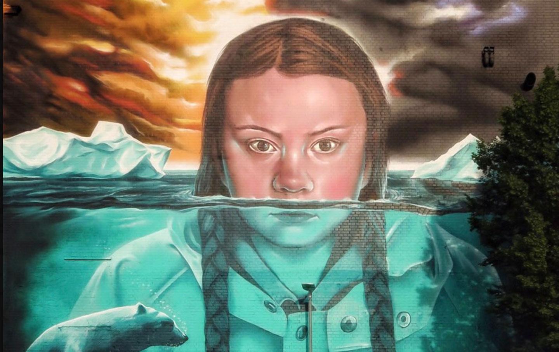 Greta Thunberg Wall Mural