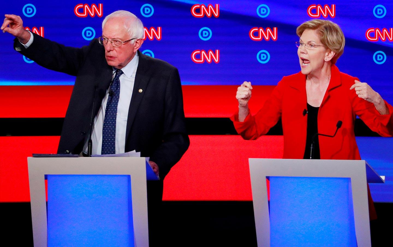 Sanders Warren debate