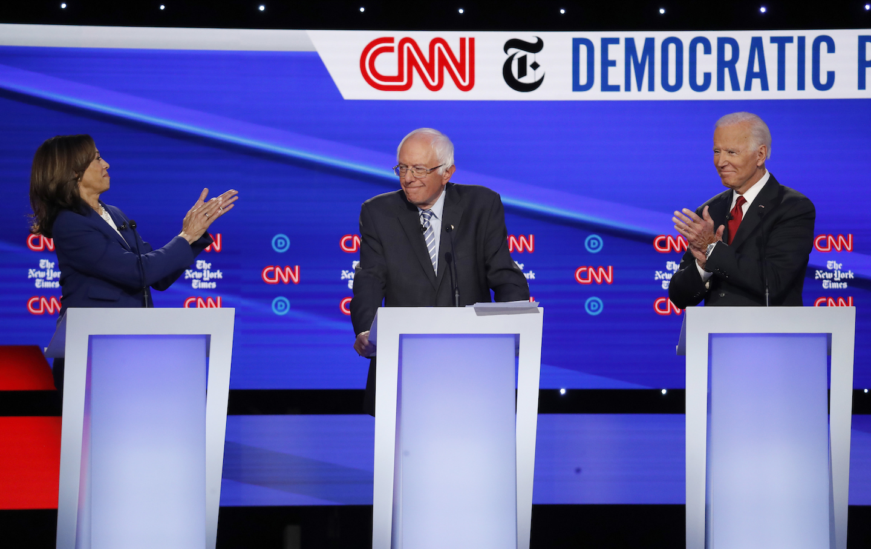 Bernie Sanders,Kamala Harris,Joe Biden