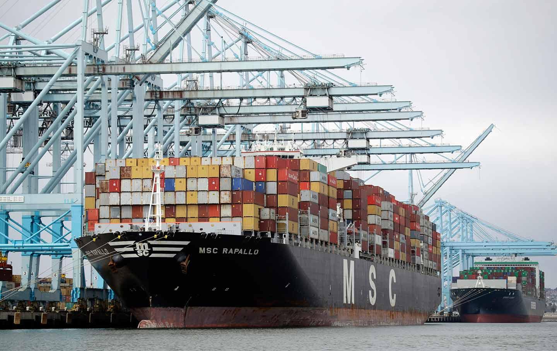 Cargo ship los angeles