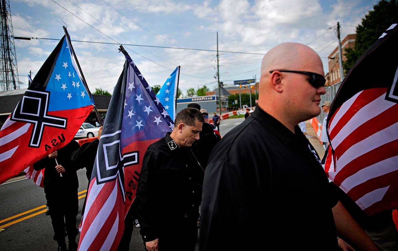 Neo Nazi rally newman
