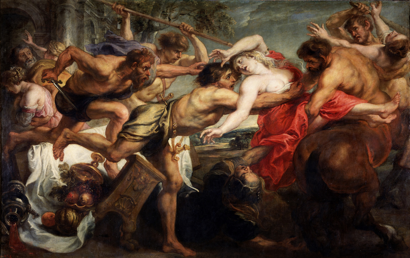 The Abduction of Hippodamia, or Lapiths and Centaurs, 1636-1638. Found in the collection of the Museo del Prado, Madrid.