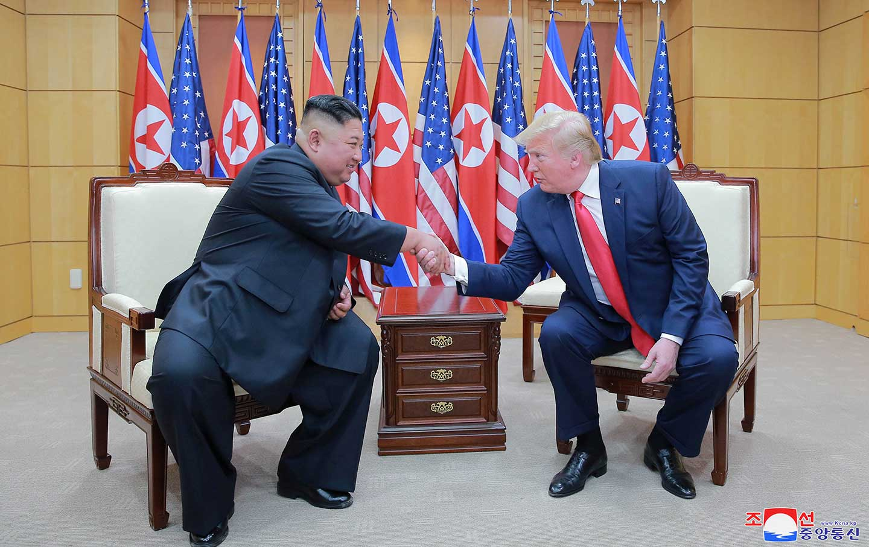 Trump and Kim 2019