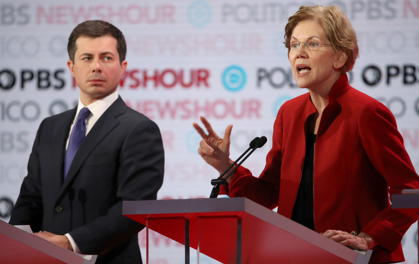 Buttigieg-warren-debate-getty-img