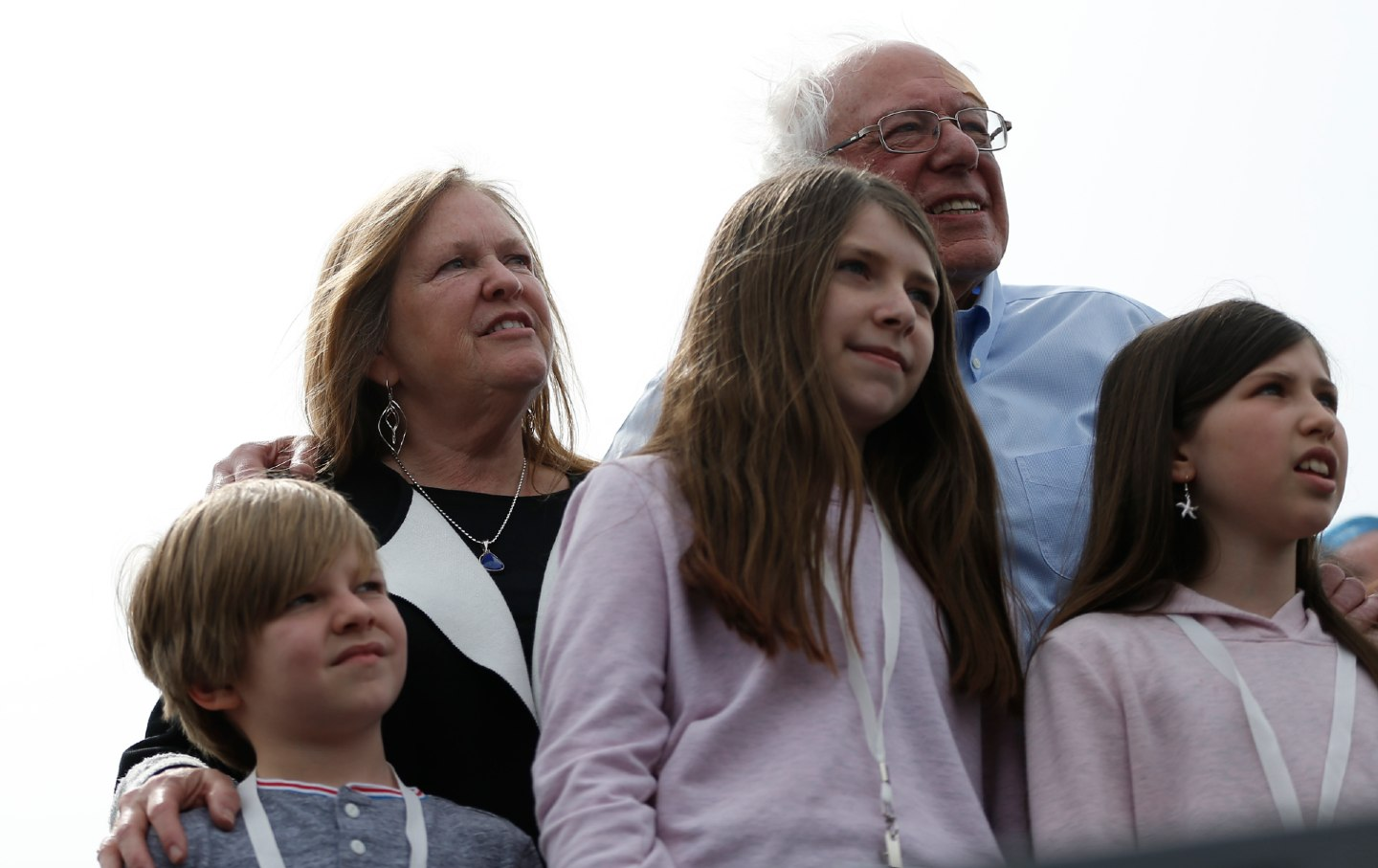 Bernie Sanders with his grandchildren