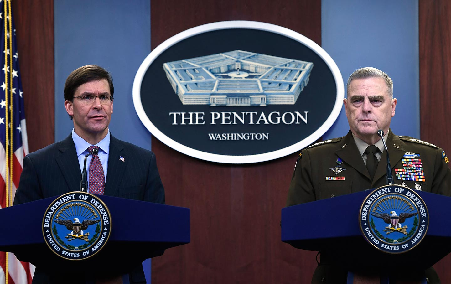 Pentagon Esper and Milley