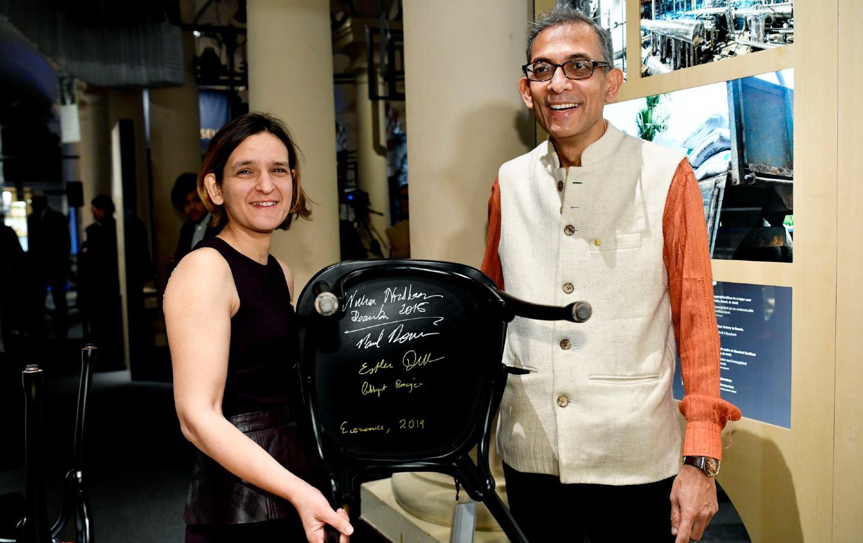 Nobel laureates Abhijit Banerjee and Esther Duflo
