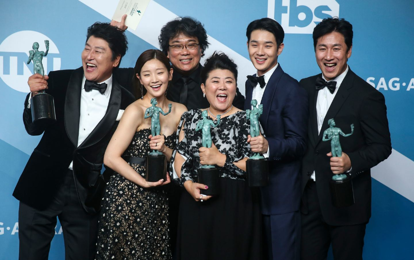 Parasite cast and director at 2020 SAG Awards.