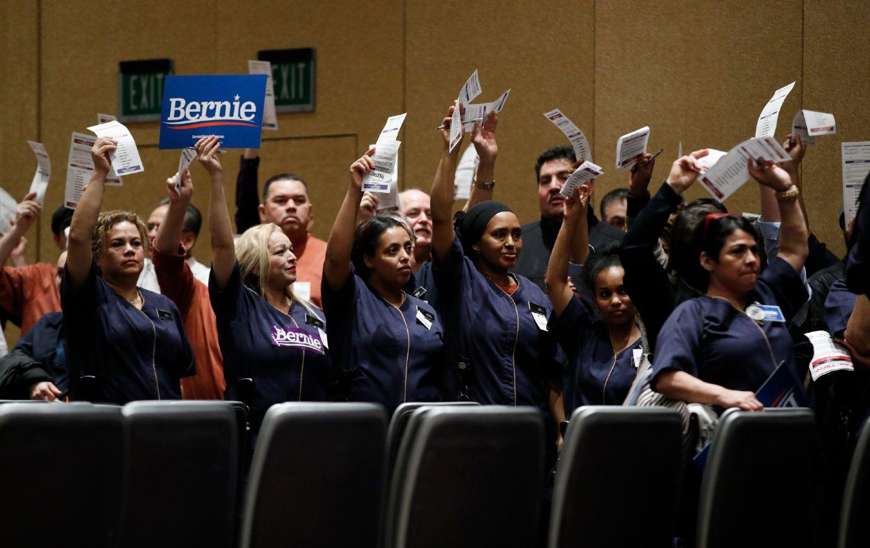 Casino workers caucus for Bernie Sanders