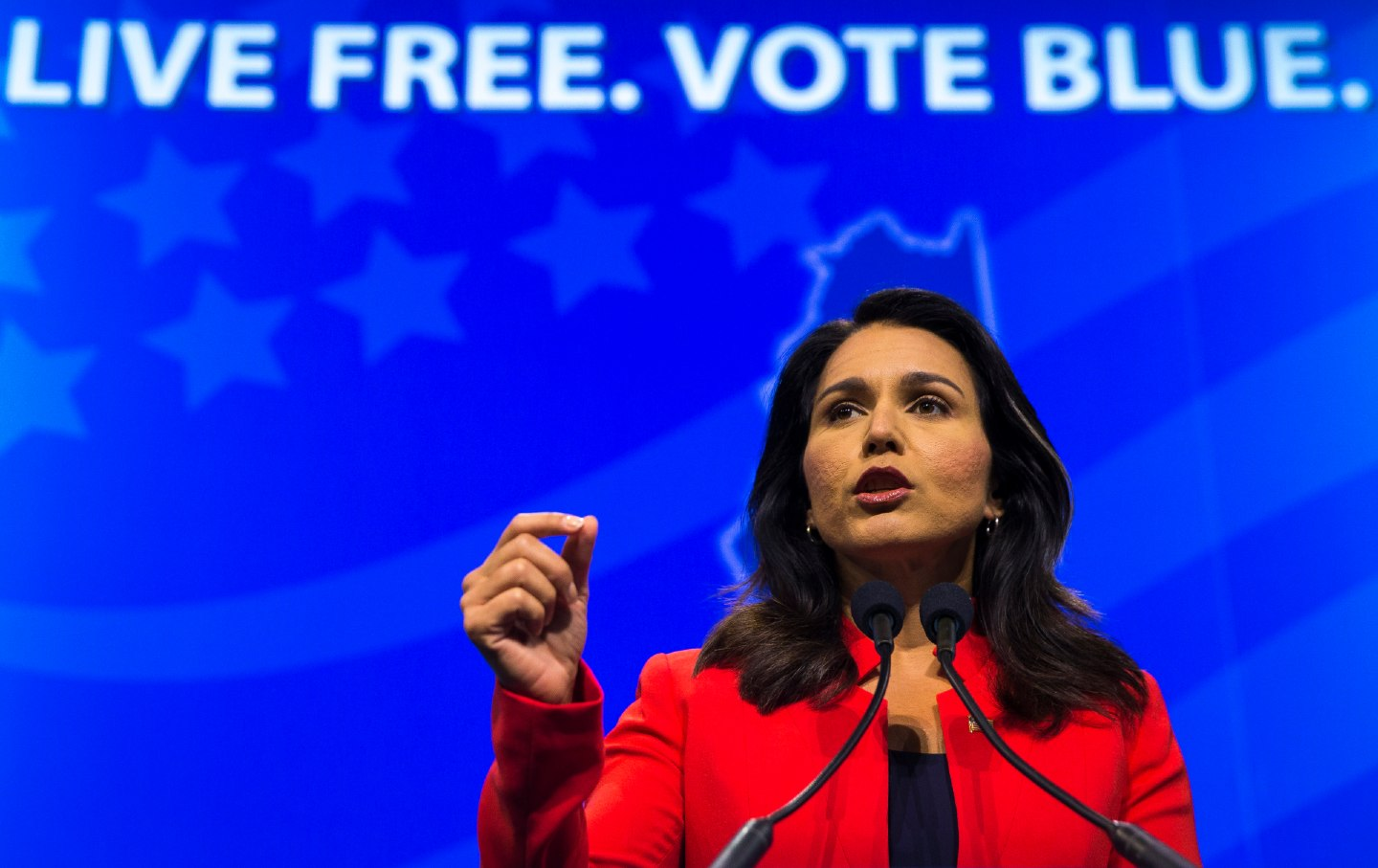 Tulsi Gabbard speaking