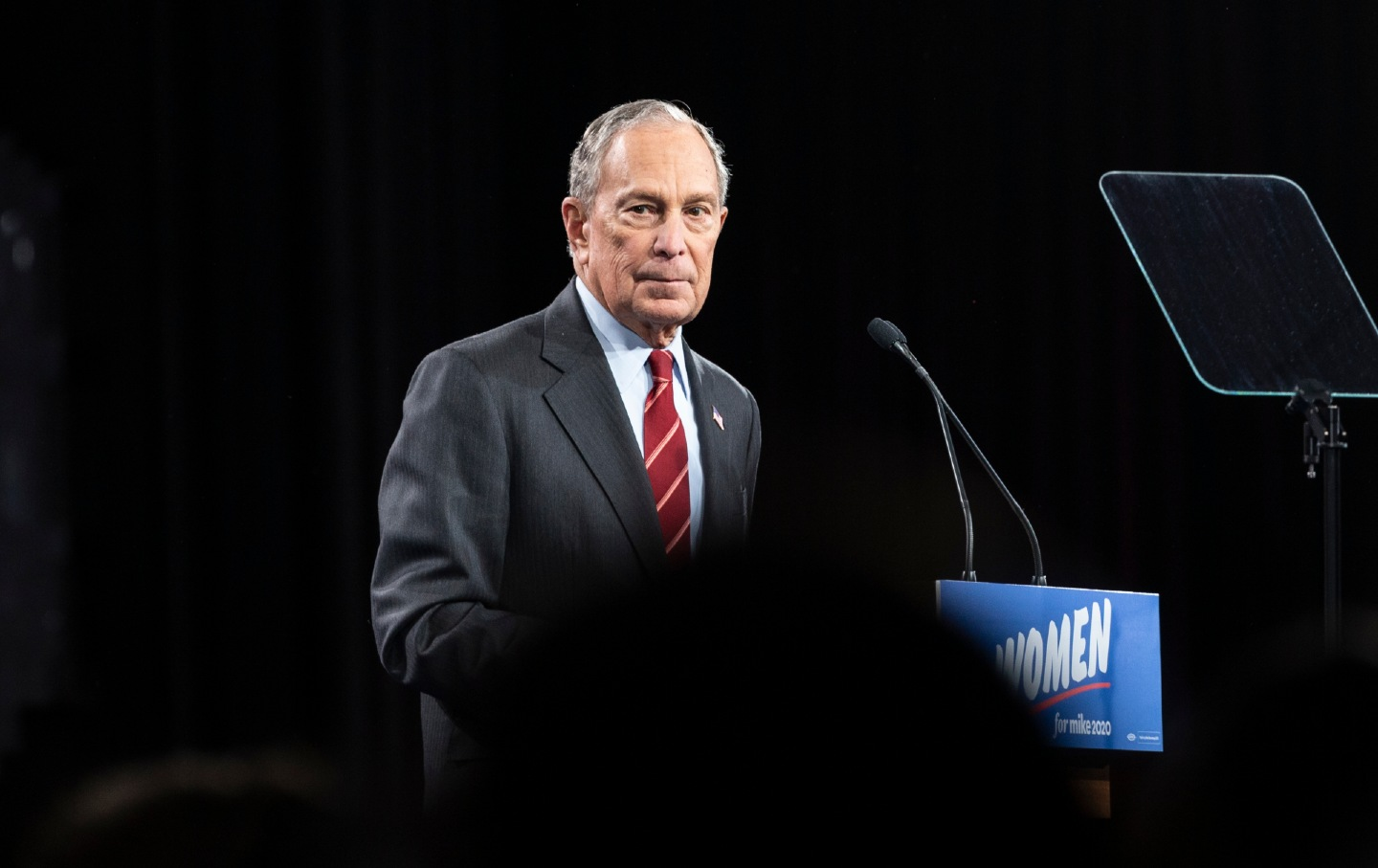 Mike Bloomberg Democratic Presidential candidate speaks during the 2020 launch Women for Mike at Sheraton New York