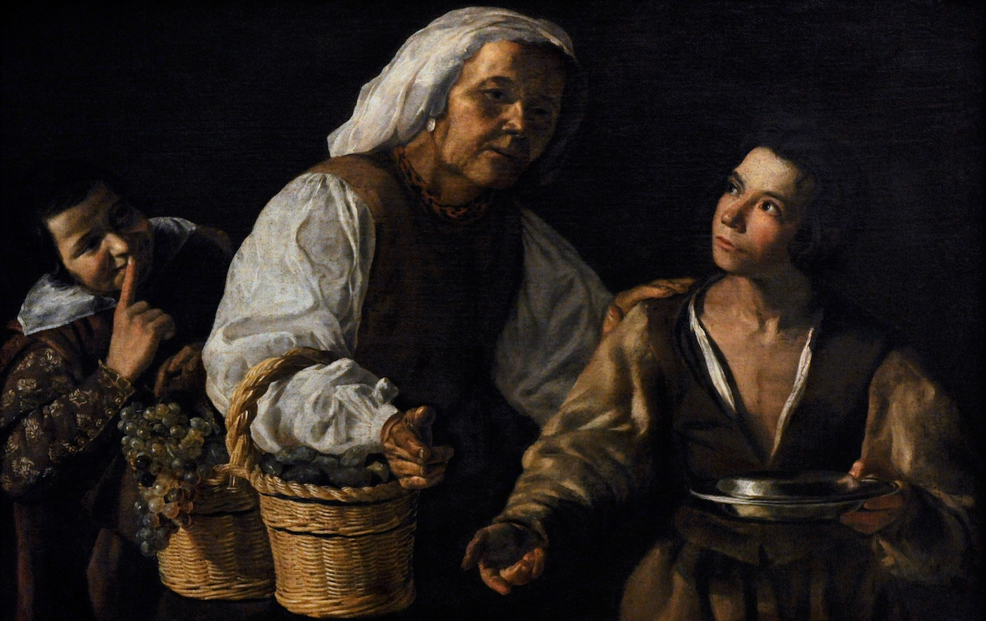 The Old Fruitseller, 1600's by School of Diego Velazquez (1599-1660).