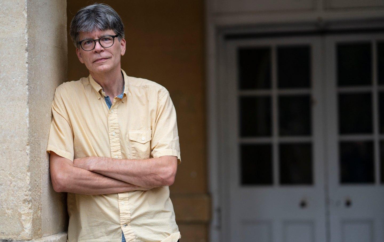 Author Richard Powers poses for a portrait