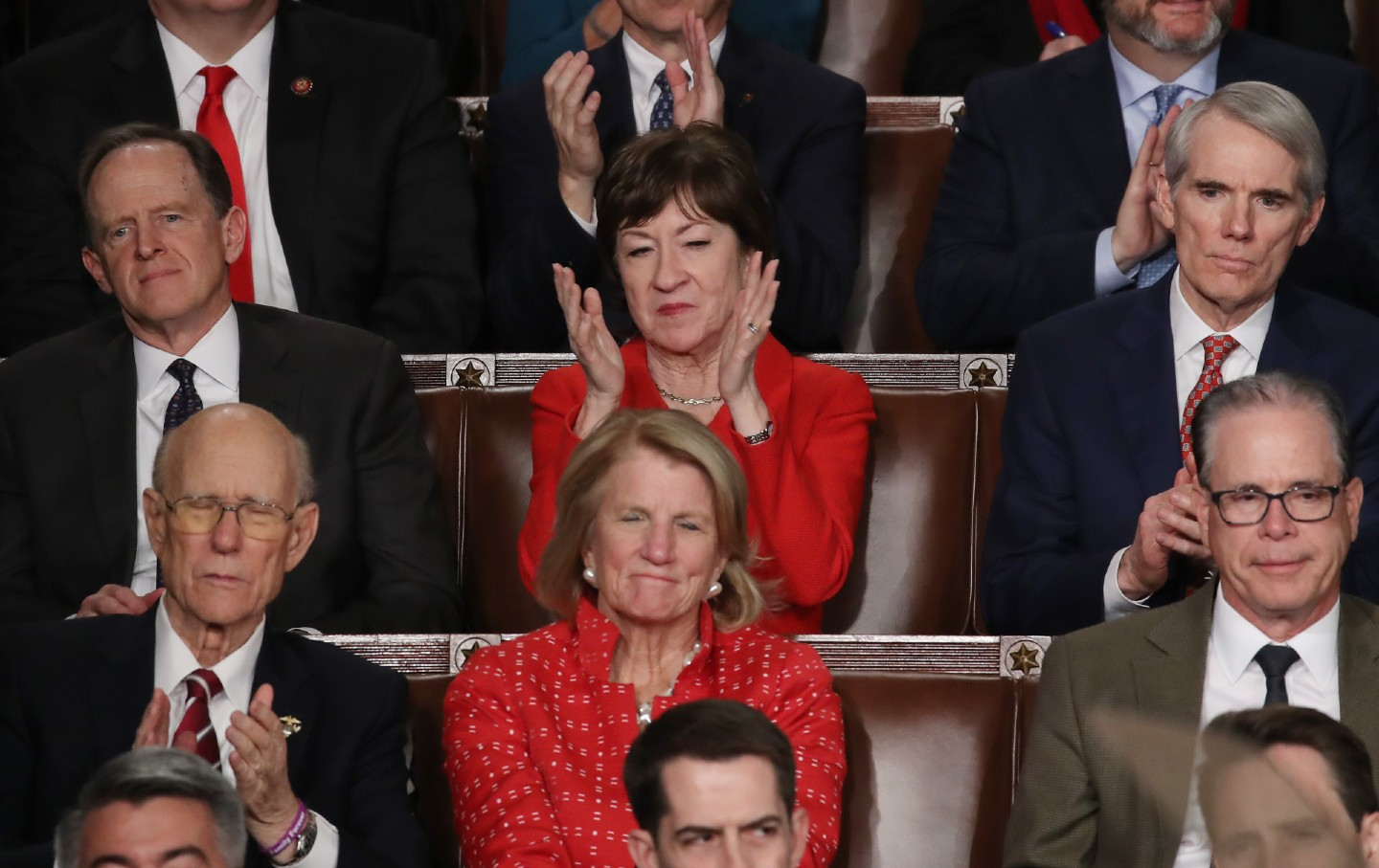 Susan Collins at the State of the Union address.