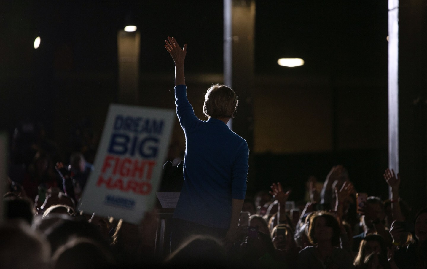 Elizabeth Warren at a campaign rally on Super Tuesday