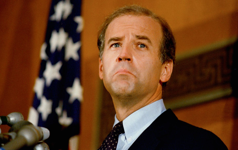 Joe Biden looks on in a September 1987 photograph