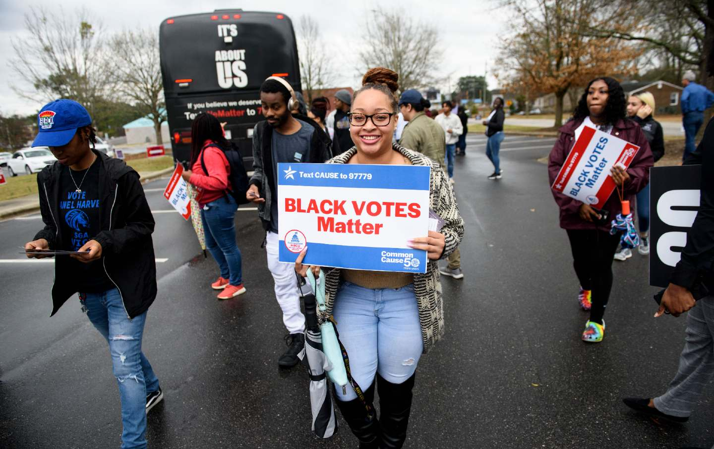 Students promote black voter engagement