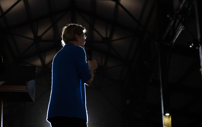 Elizabeth Warren speaks at a Super Tuesday rally