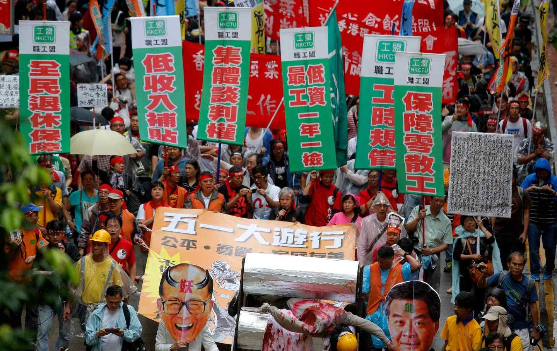 May Day in Hong Kong