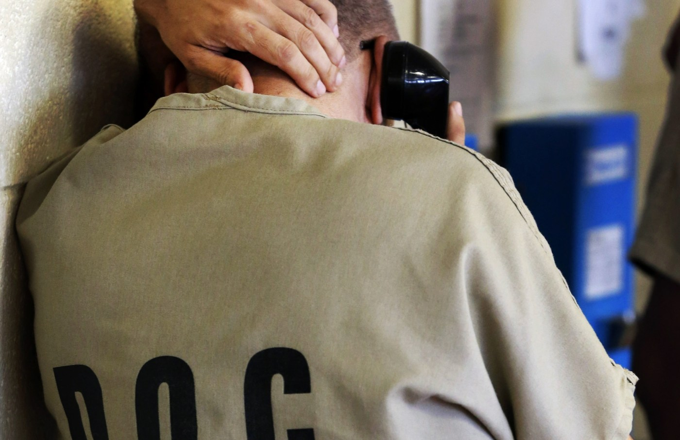 Incarcerated Person on Phone in Cook County Jail