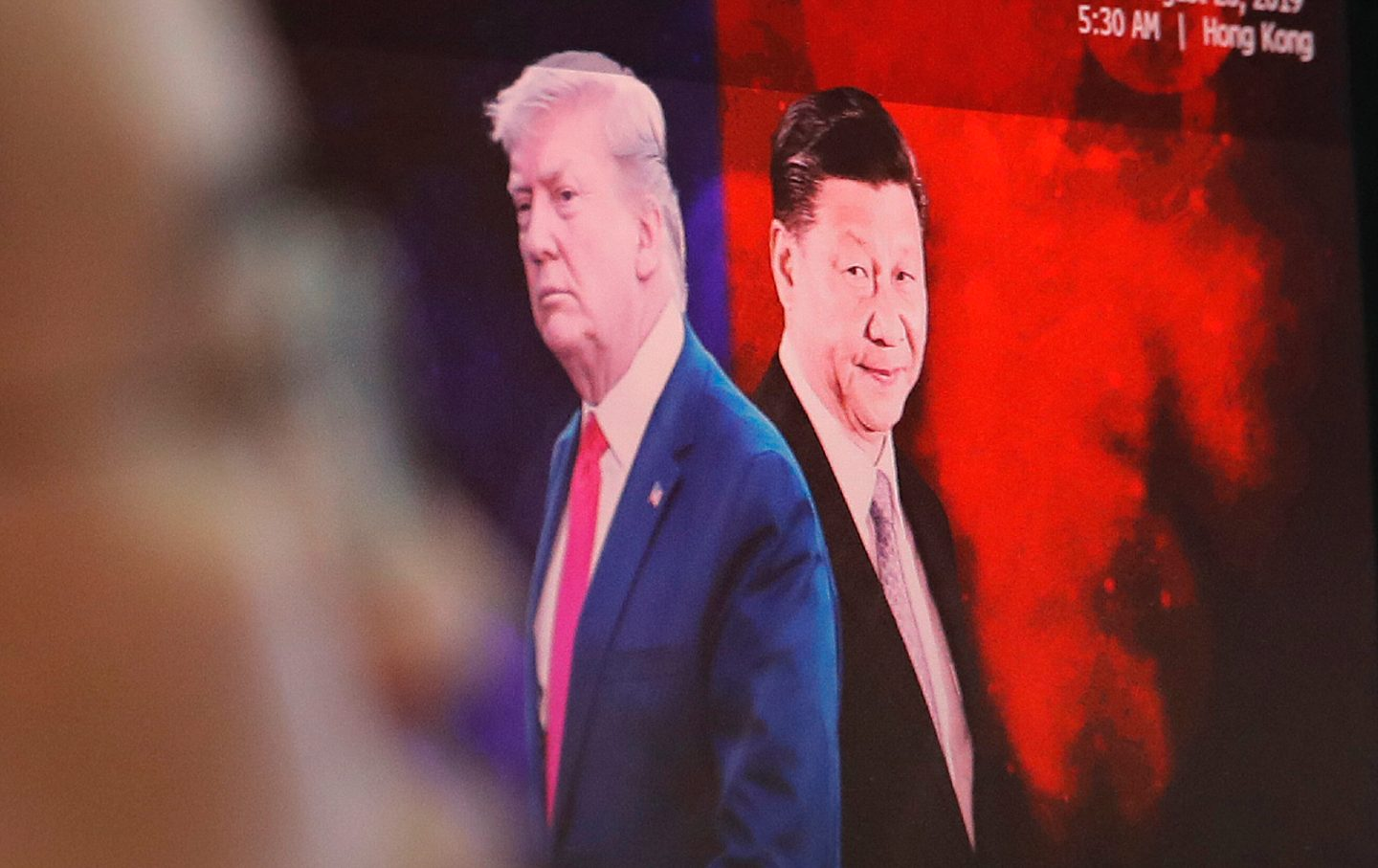 Chinese President Xi Jinping, right, and U.S. President Donald Trump