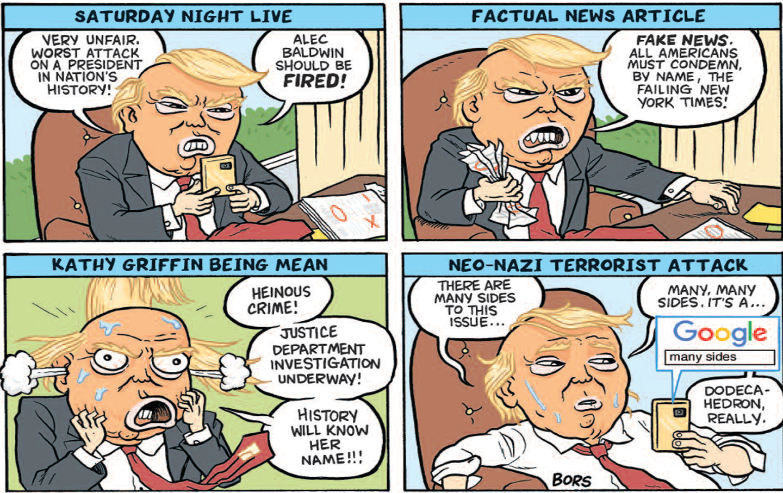 Trump SNL cartoon