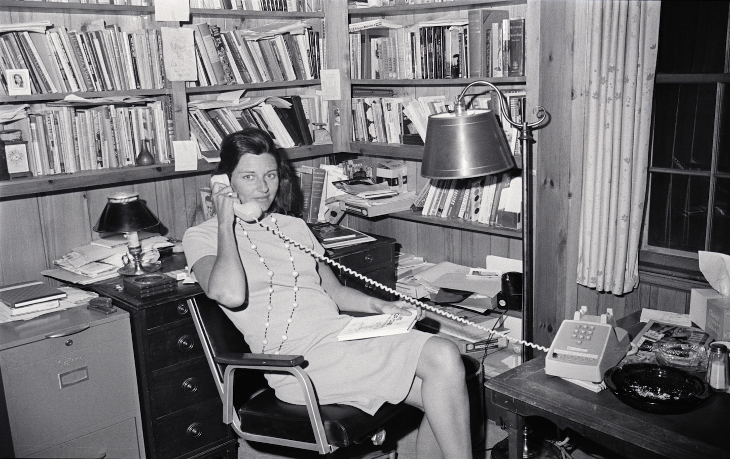 Poet Anne Sexton in Her Office