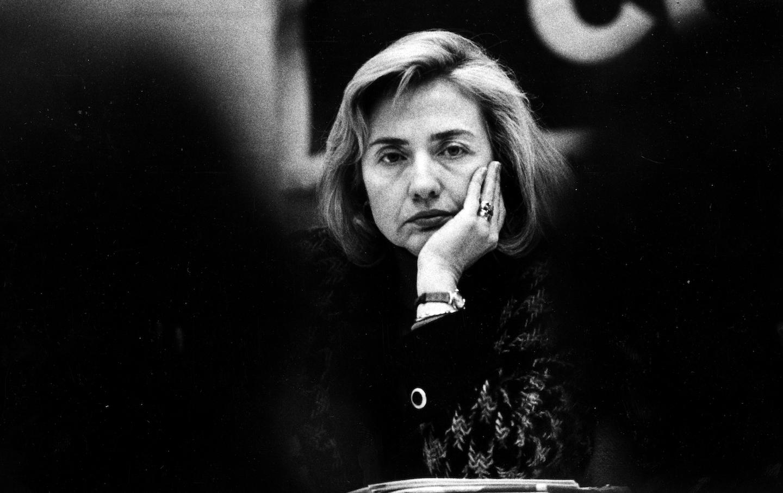 Hillary Clinton At Health Care Forum In Boston