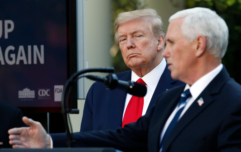 Trump staring at Pence