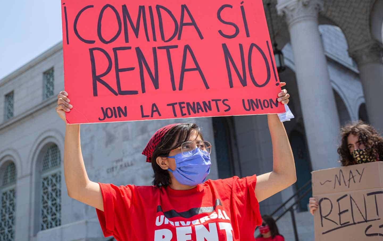 L.A. Tenants Union protest