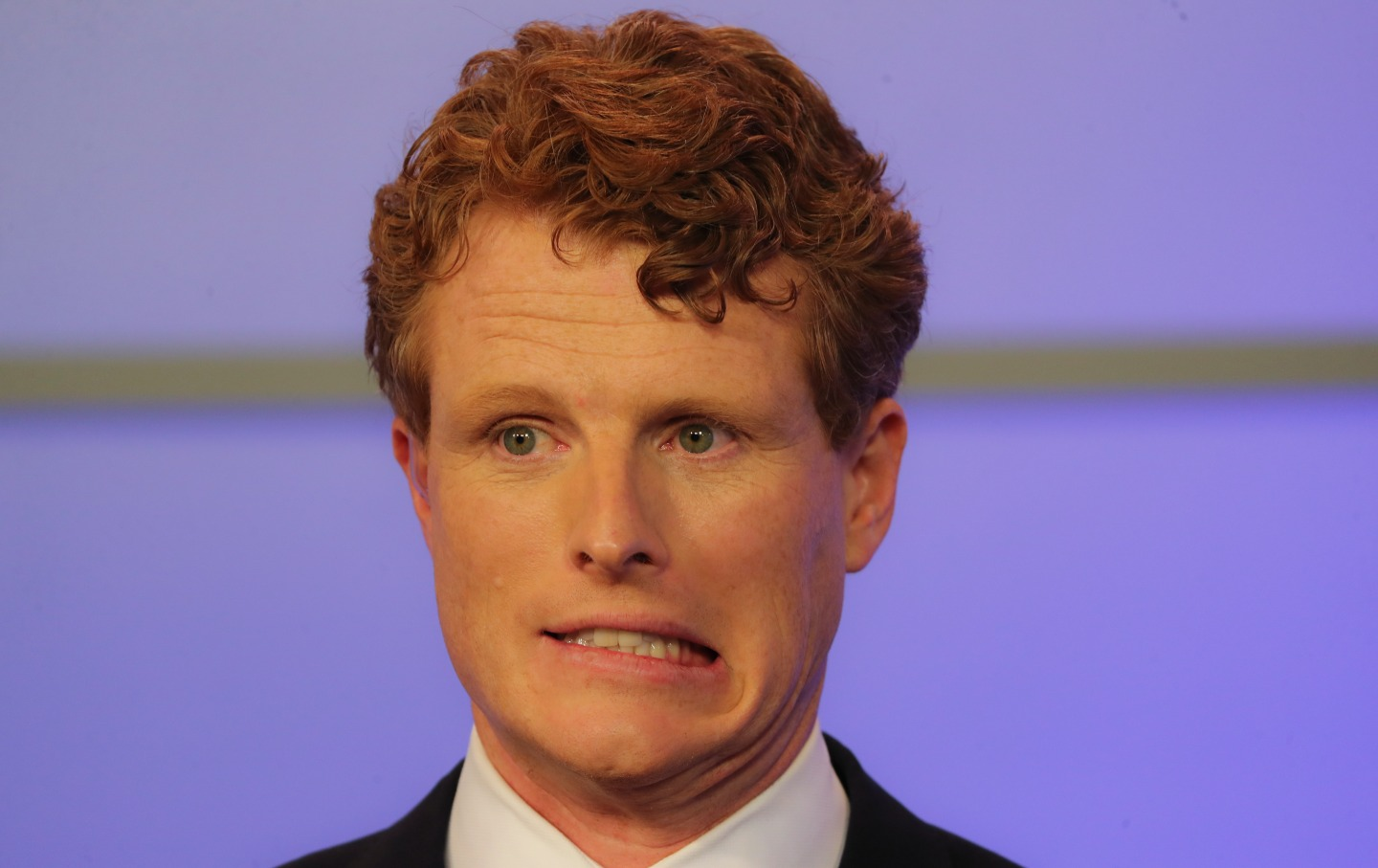 Joe Kennedy grimacing